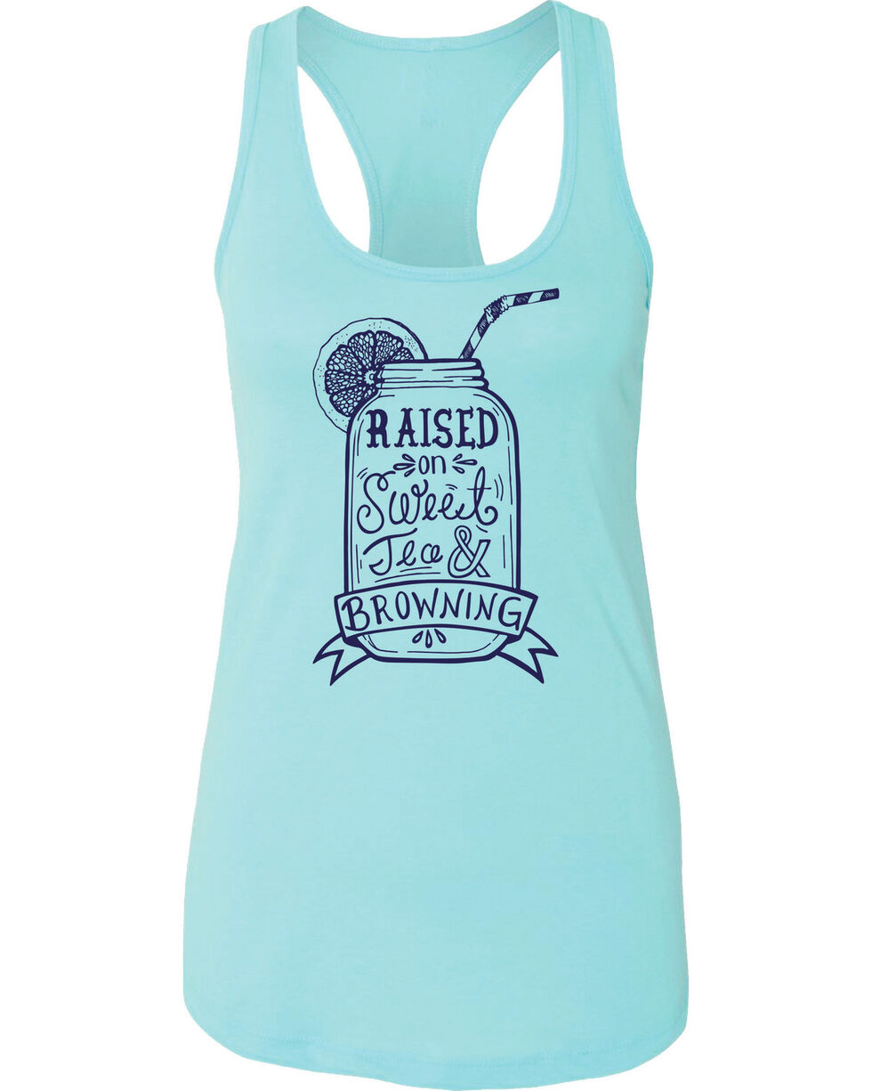 Browning Women's Turquoise Sweet Tea Tank Top , Turquoise, hi-res