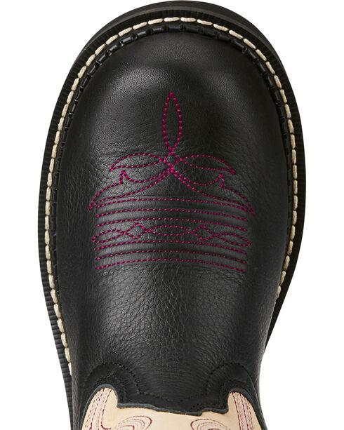 Ariat Fatbaby Women's Heritage Black/Cream Cowgirl Boots - Round Toe, Dark Brown, hi-res