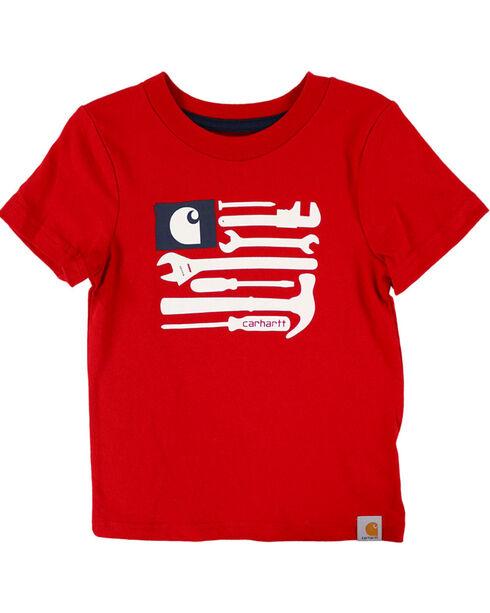 Carhartt Boys' Red Flag Tools T-Shirt , Red, hi-res