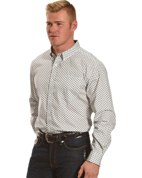 Cody James® Men's Jaggar White Long Sleeve Shirt - Big & Tall, White, hi-res