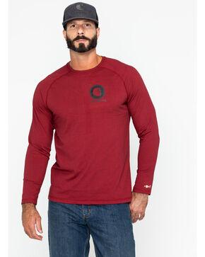 Carhartt Men's Force Cotton Delmont Graphic Work Shirt, Brown, hi-res