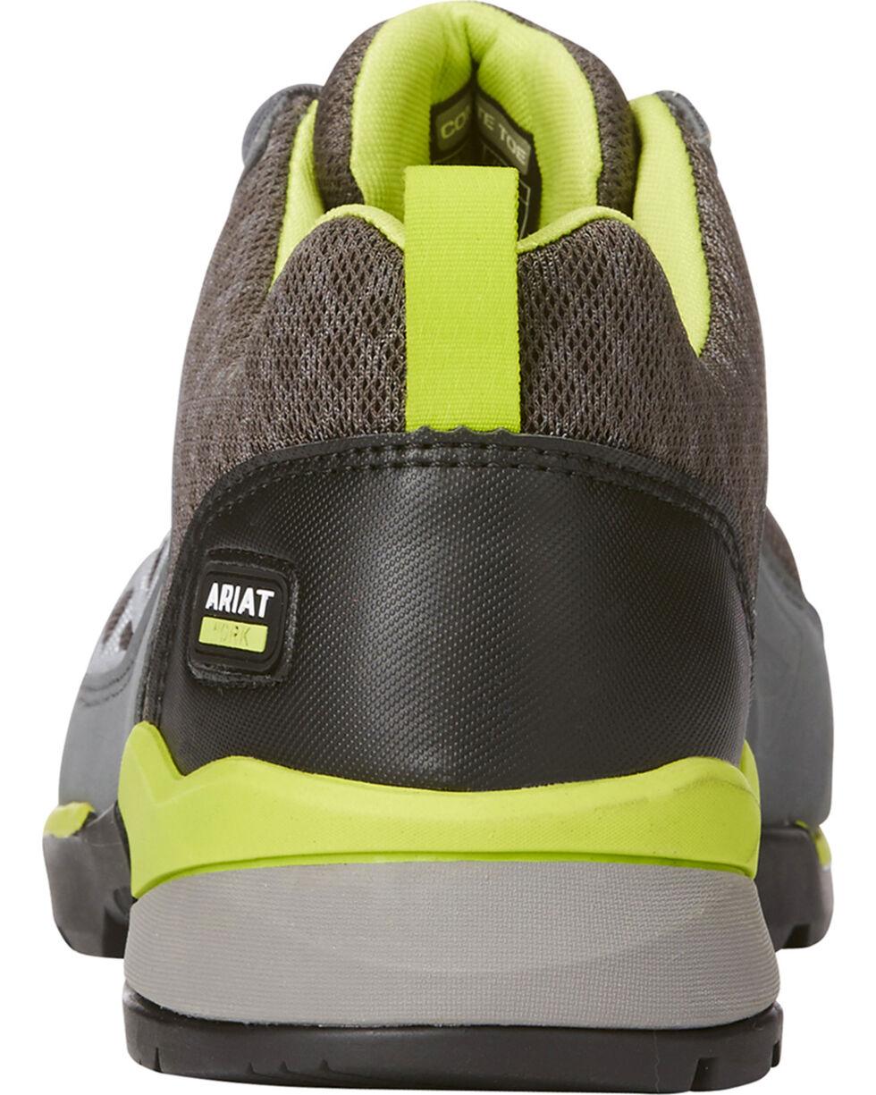 Ariat Men's Grey Rebar Giga Flex Shoes - Composite Toe, Grey, hi-res