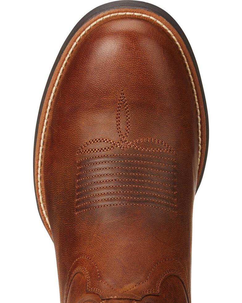8e5bcdcb262 Ariat Men's Sport Horseman Brown Cowboy Boots - Round Toe