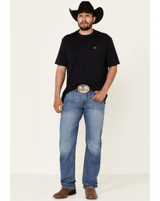 Cinch Men's White Label Stonewash Relaxed Straight Leg Jeans , Indigo, hi-res