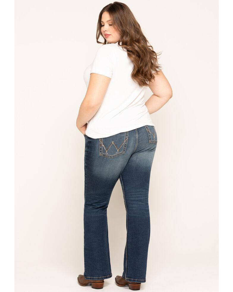 Wrangler Retro Women's Dark Mae Bootcut Jeans - Plus, Blue, hi-res