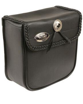 Milwaukee Leather Small PVC Braided Sissy Bar Bag, , hi-res