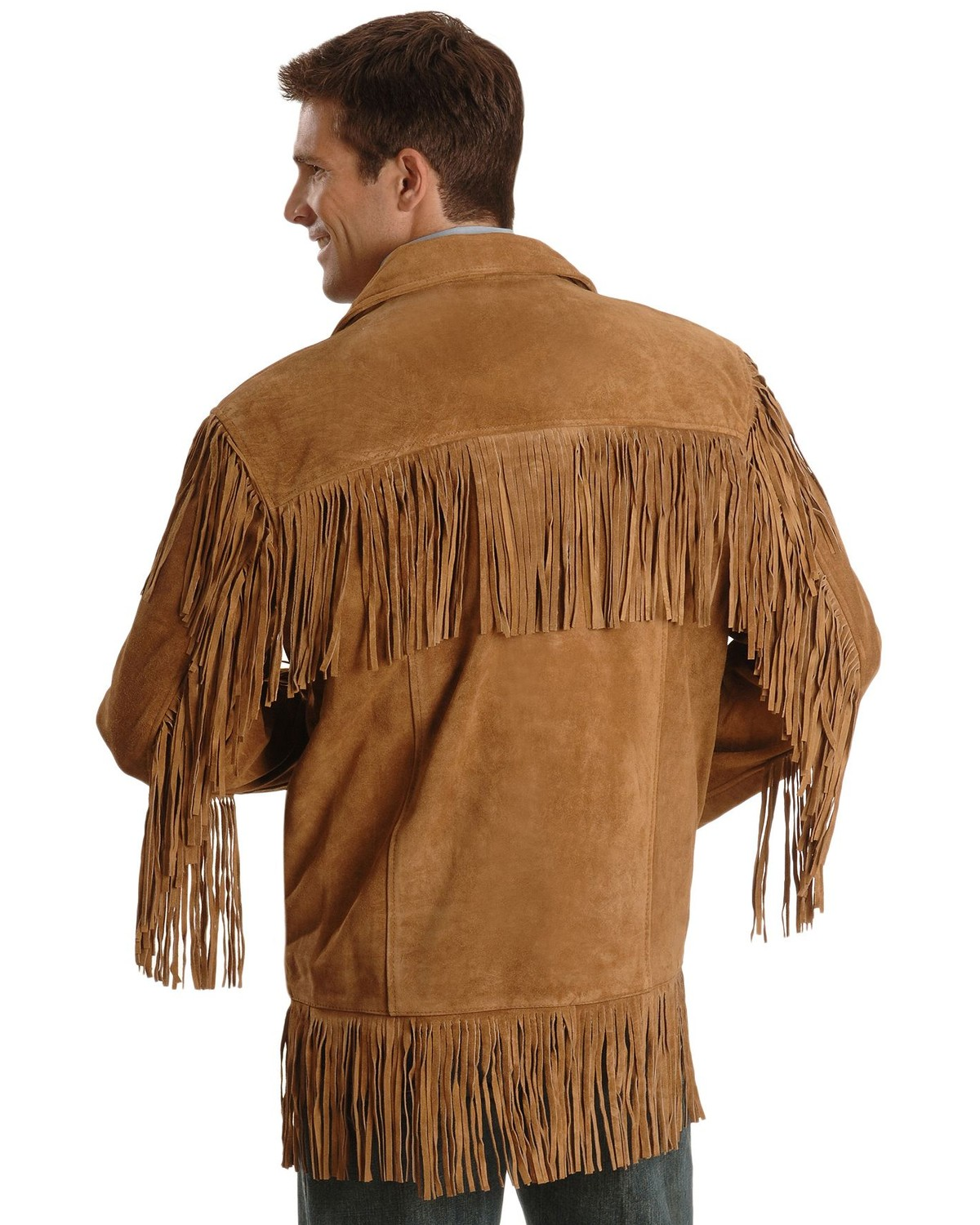 Liberty Wear Men S Suede Fringe Western Jacket Big