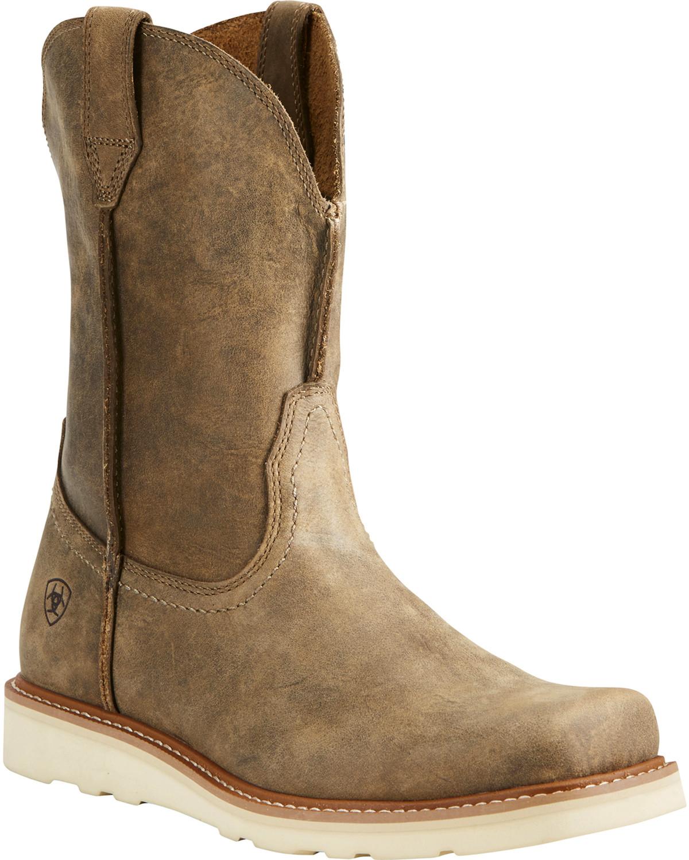 Light Work Mens Boots: Ariat Men's Rambler Recon Light Brown Work Boots