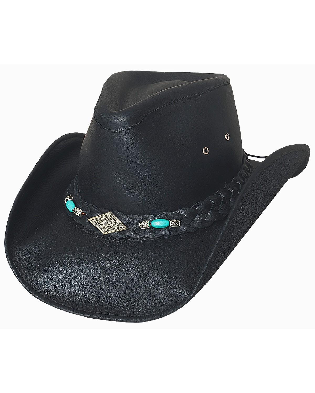 00652438582 Bullhide Royston Leather Cowboy Hat