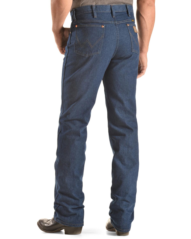 WRANGLER 936DEN Slim Fit Cowboy Cut Rigid Hard Denim