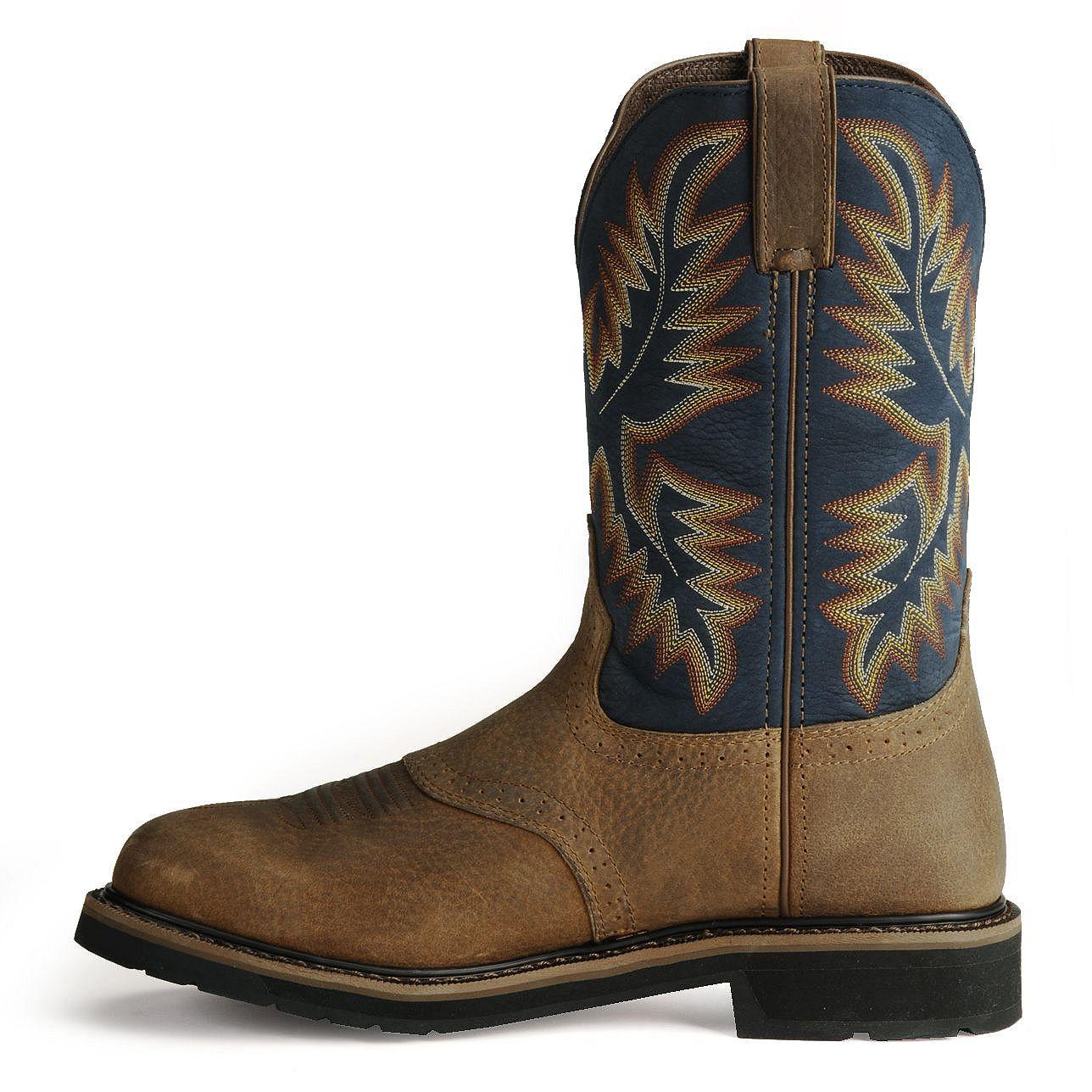 Justin Men S Stampede Superintendent Blue Work Boots