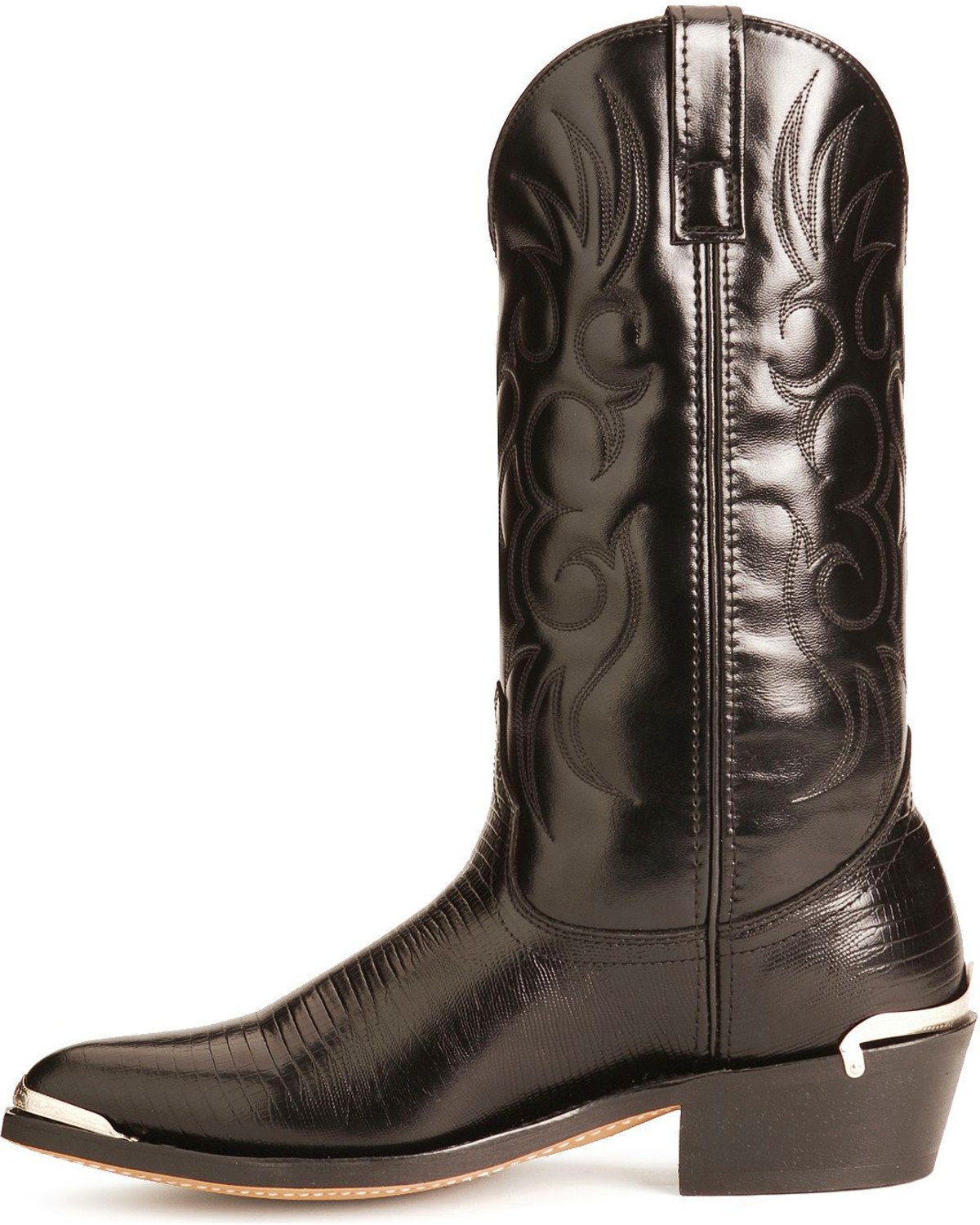 Laredo Lizard Print Cowboy Boots Pointed Toe Sheplers