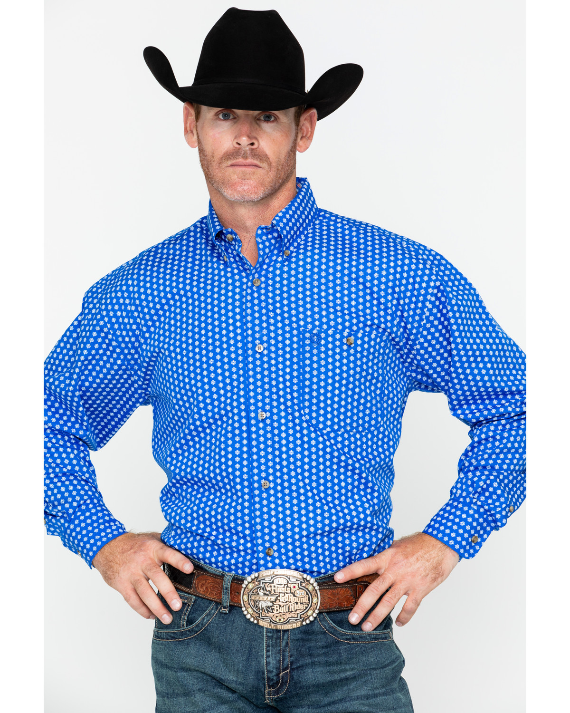 Geo Print Long Sleeve Shirt   Sheplers