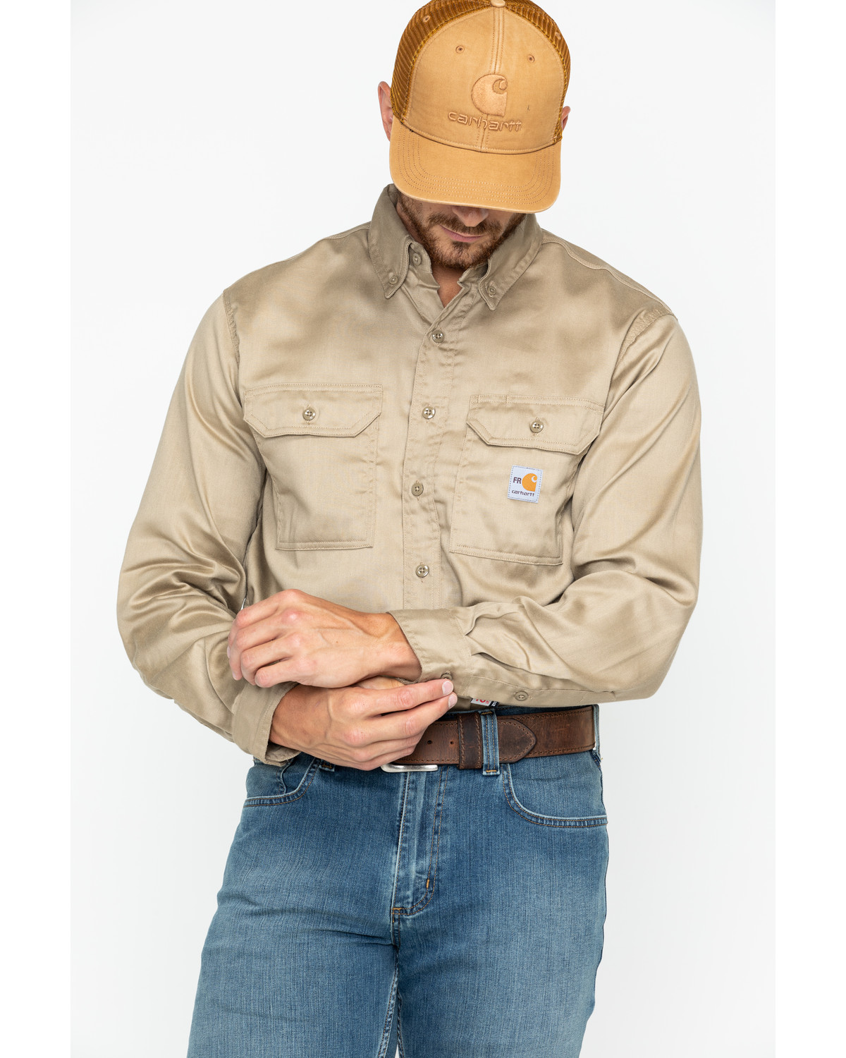 e490fca0ac57 Carhartt Flame Resistant Work-Dry® Twill Long Sleeve Shirt