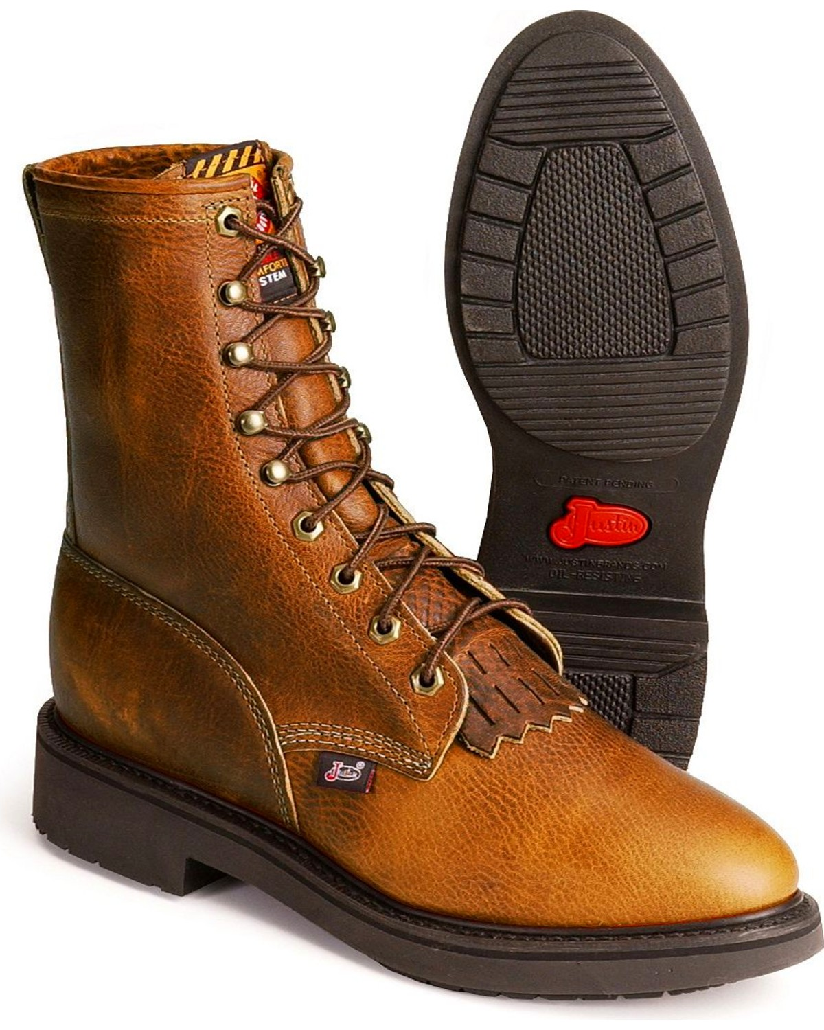 Justin Men S Conductor 8 Quot Lace Up Work Boots Steel Toe