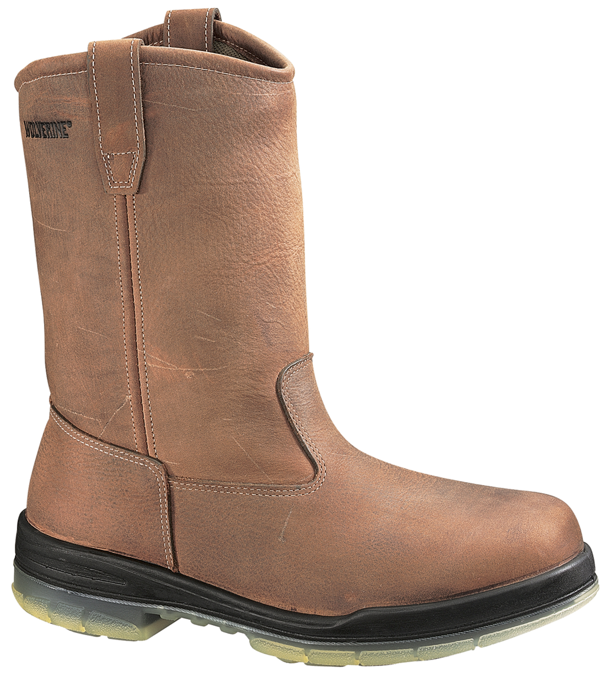 Insulated Waterproof Pull-On Work Boots