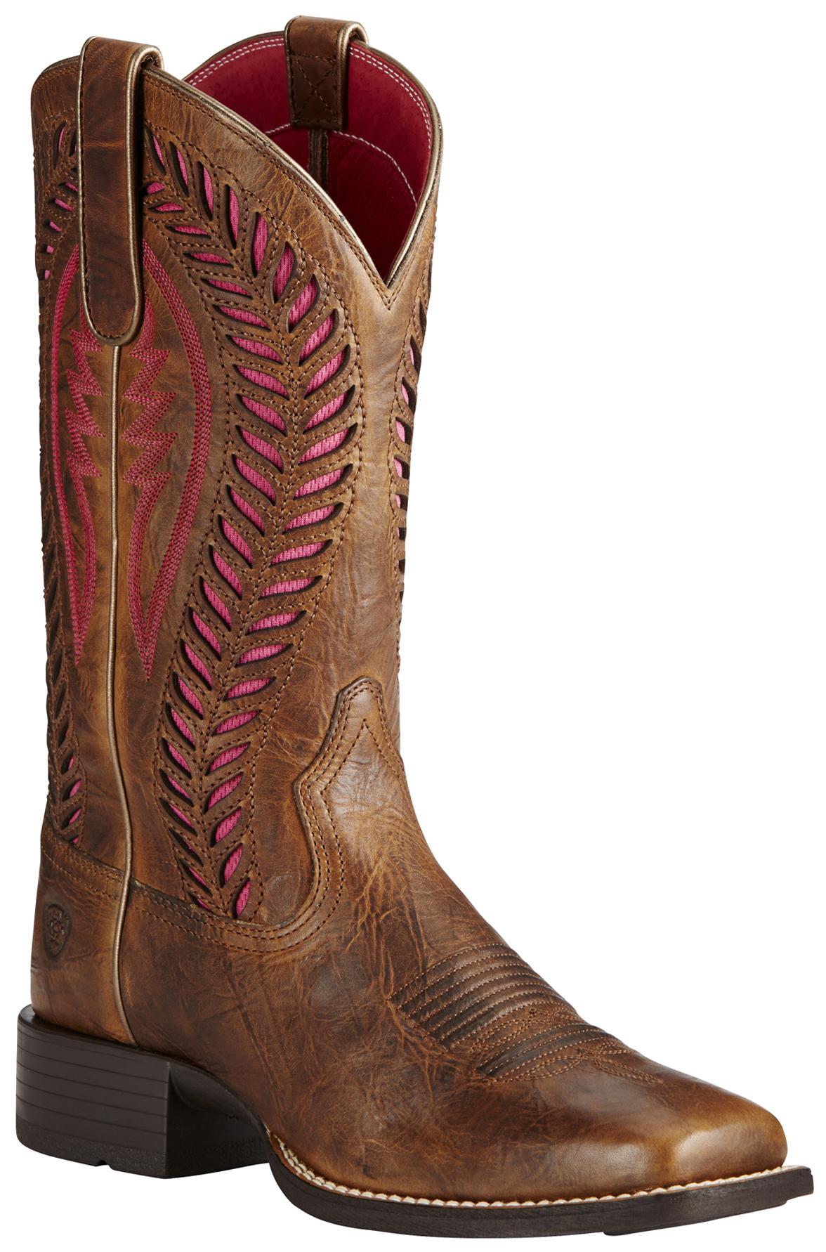 Ariat Brown Women S Quickdraw Venttek Boots Wide Square