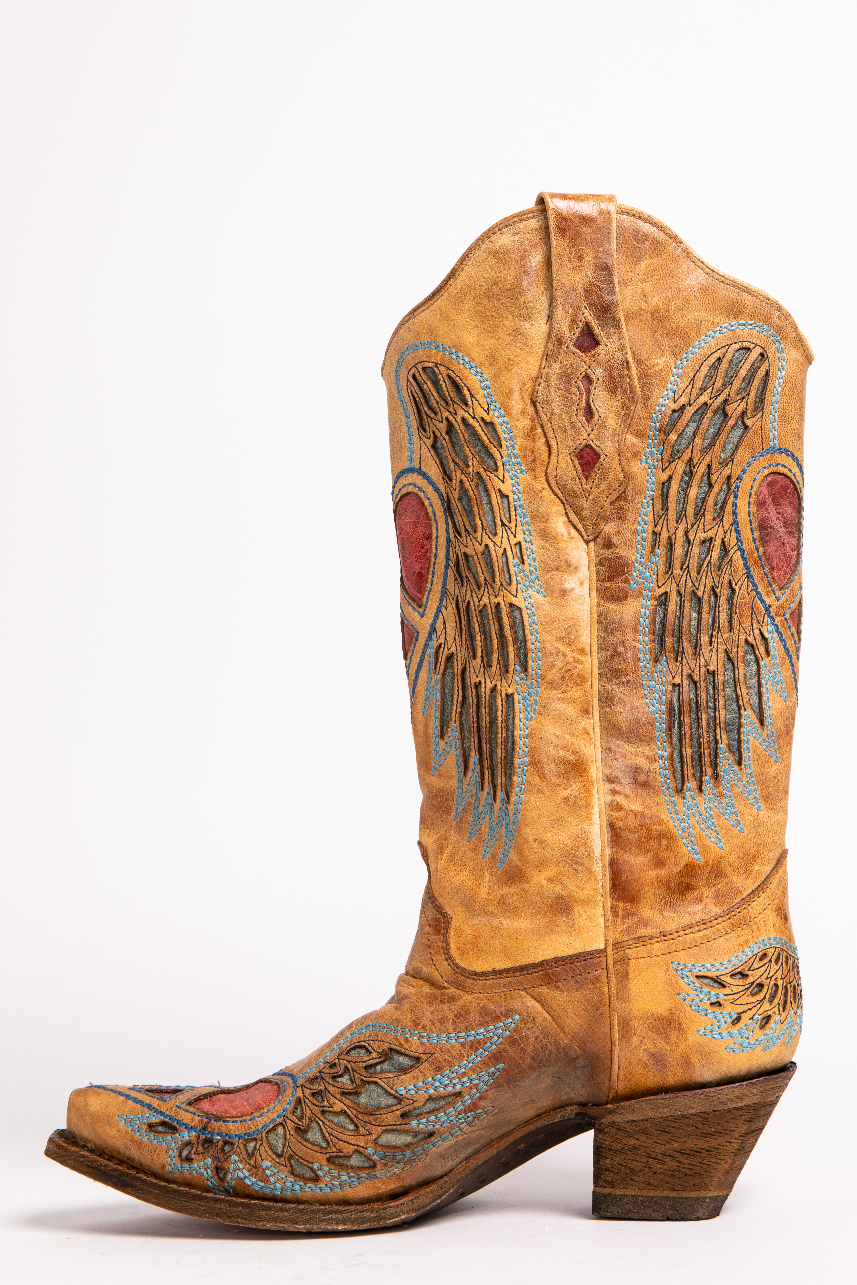 c85b07754958 Corral Heart Angel Wing Cowgirl Boots - Snip Toe