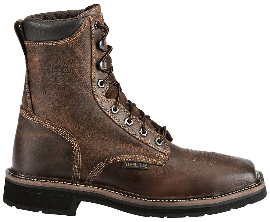 Justin Men S Stampede Pulley 8 Quot Lace Up Work Boots Steel Toe Sheplers