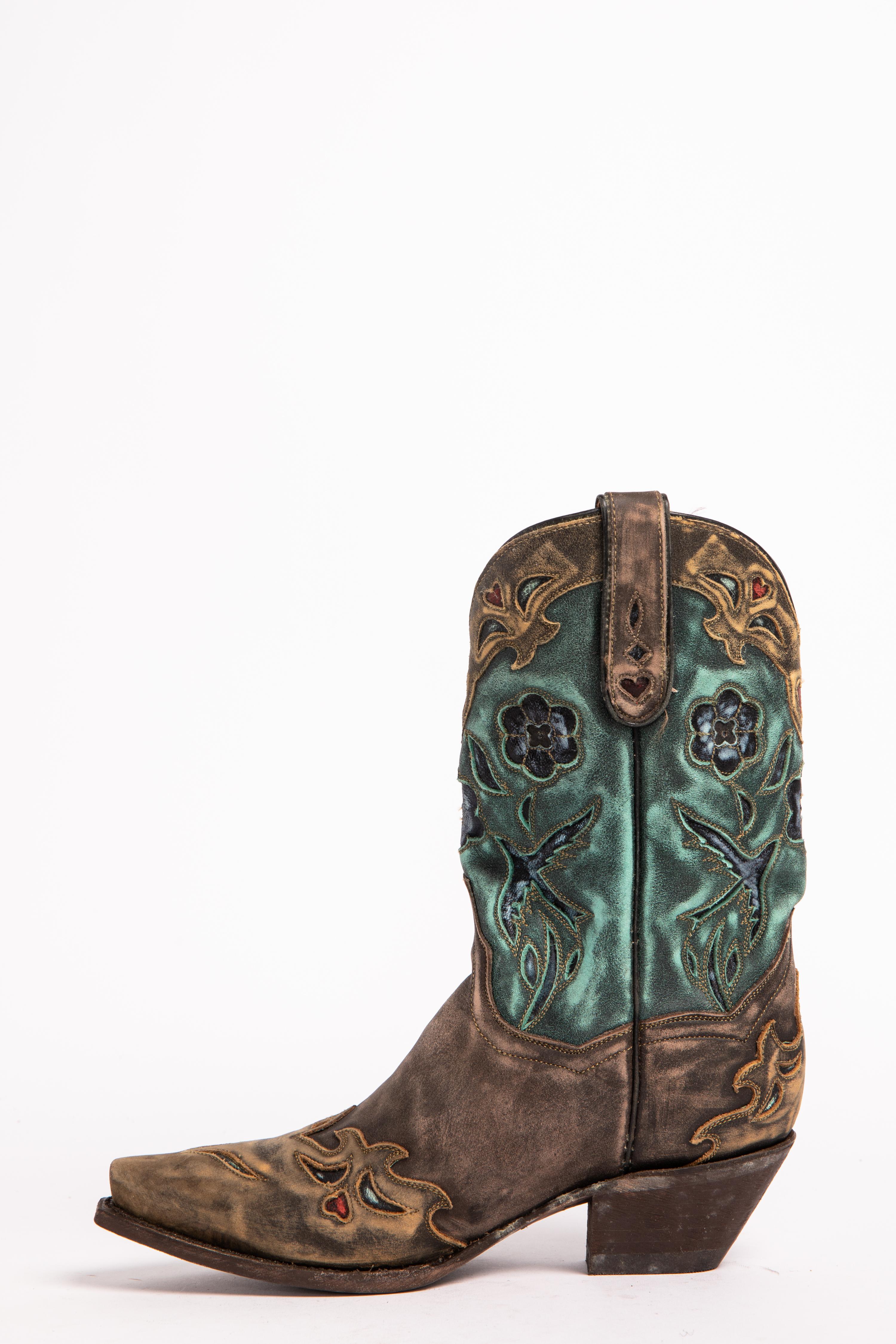 Dan Post Blue Bird Wingtip Cowgirl Boots - Snip Toe | Sheplers