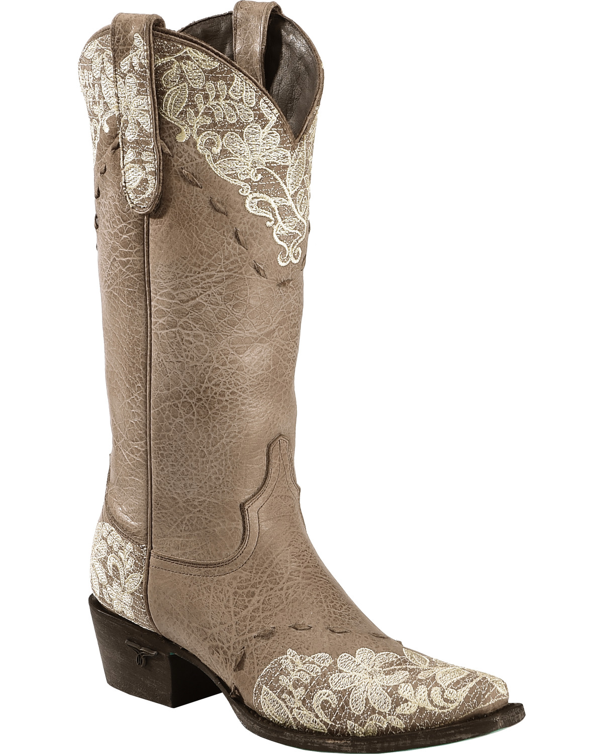 Lane Jeni Lace Embroidered Cowgirl Boots Snip Toe Sheplers