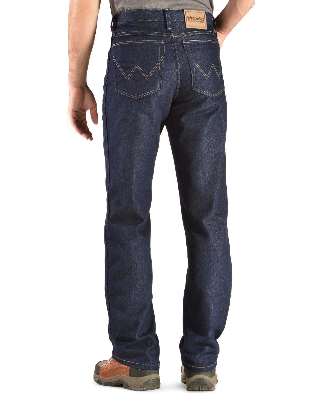 Amazing Wrangler Jeans   Rugged Wear Classic Fit Stretch, Indigo, Hi Res