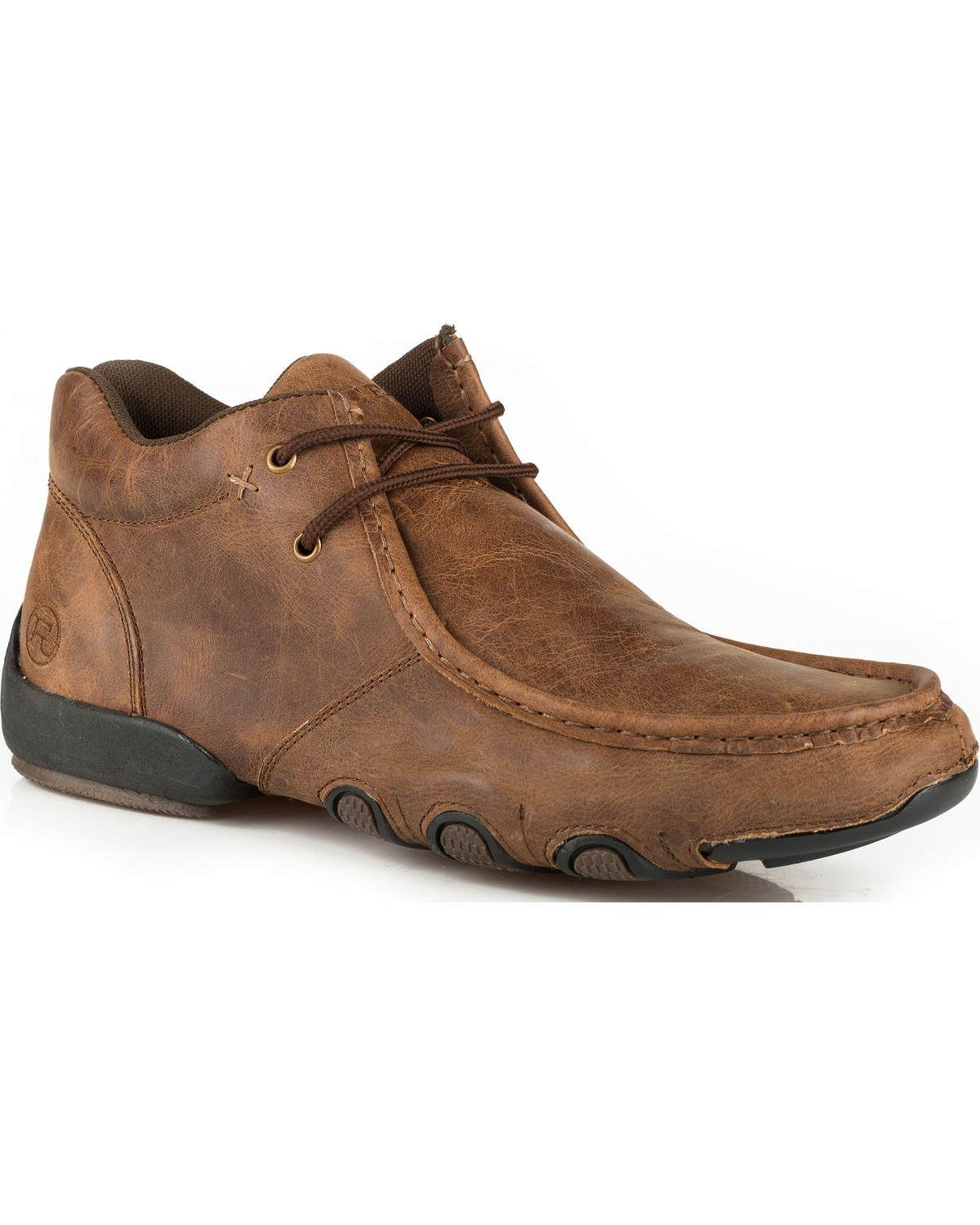 Roper Men's Brown Leather 2 Eye Lace Up