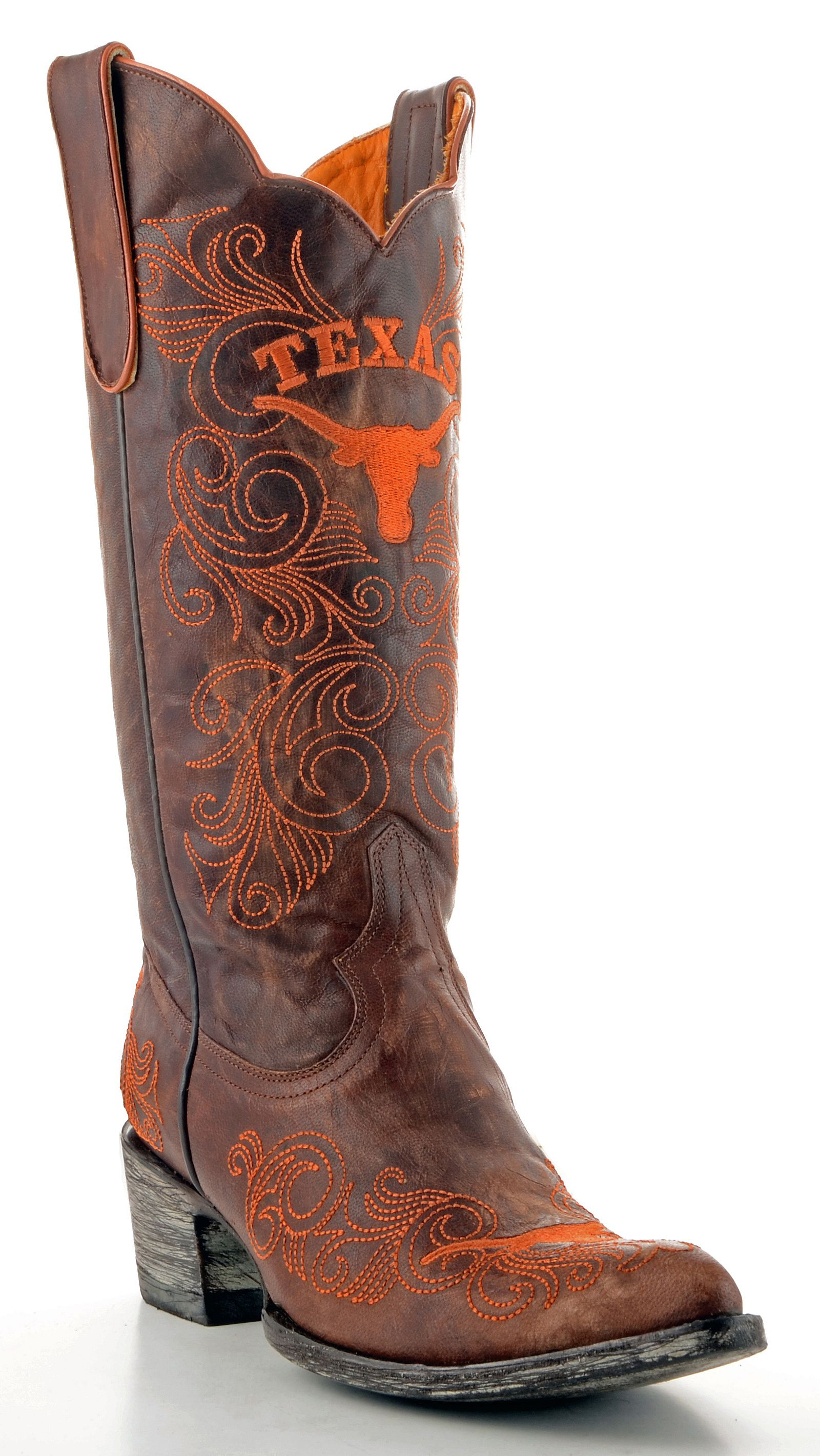 Gameday University Of Texas Cowgirl Boots Pointed Toe