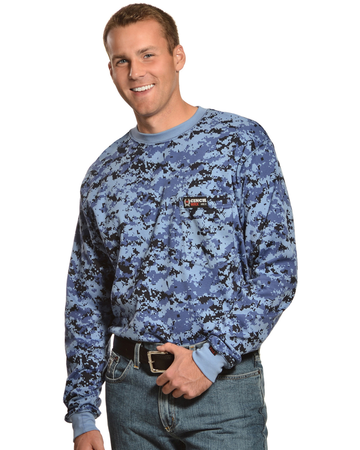 Cinch WRX Flame-Resistant Long Sleeve Camo T-Shirt | Sheplers