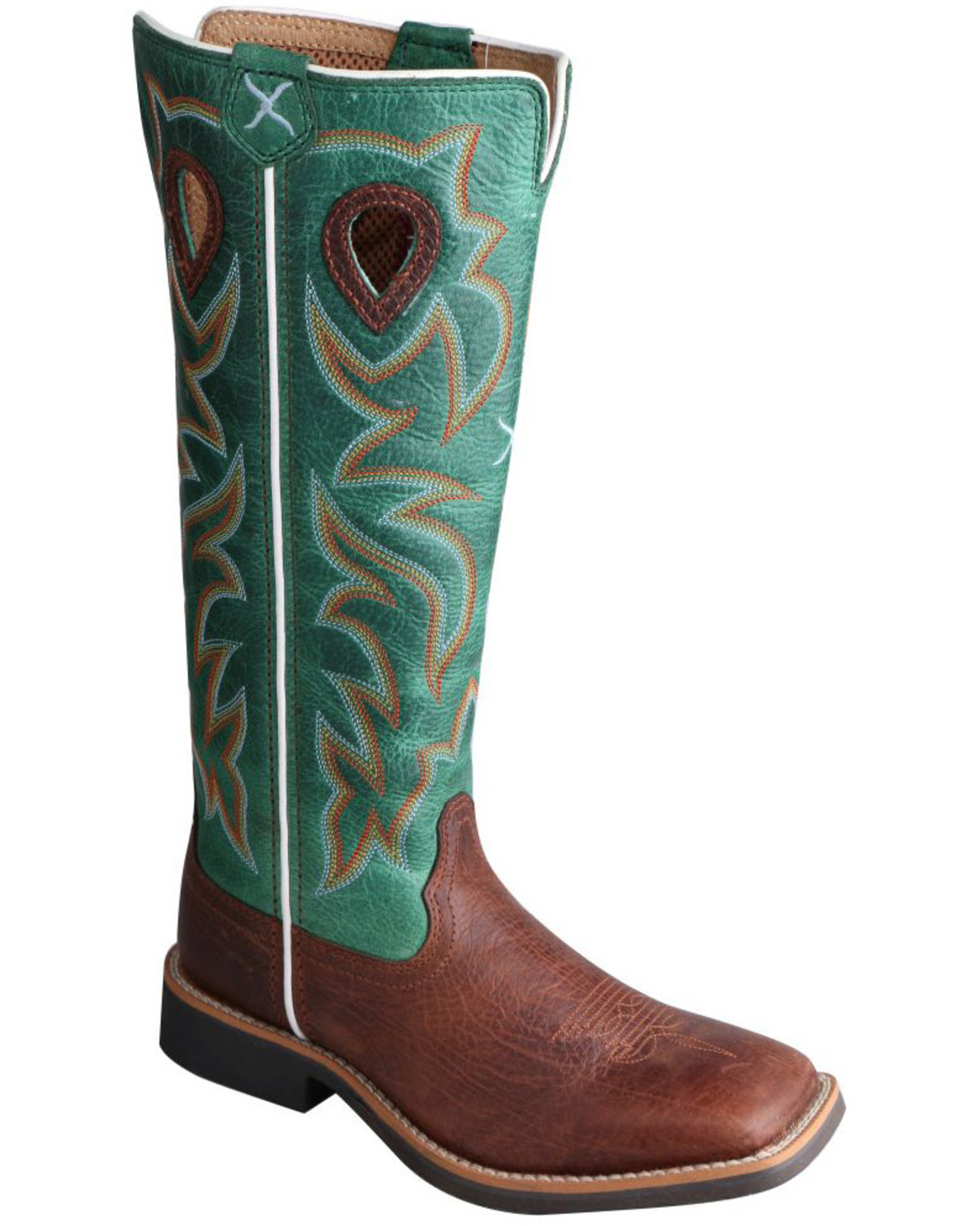 Twisted X Youth Boys Turquoise Buckaroo Cowboy Boots
