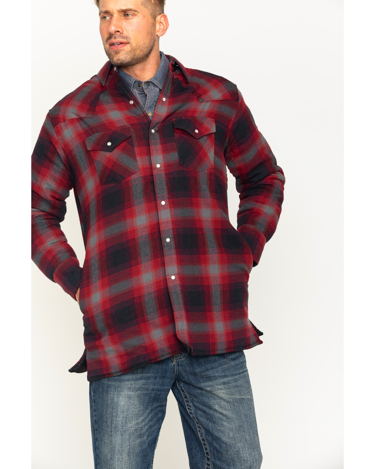 taylor pin jacket flannel shirt quilt men s quilted david