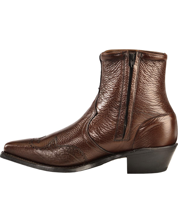 Abilene Western Wingtip Zipper Boots Sheplers