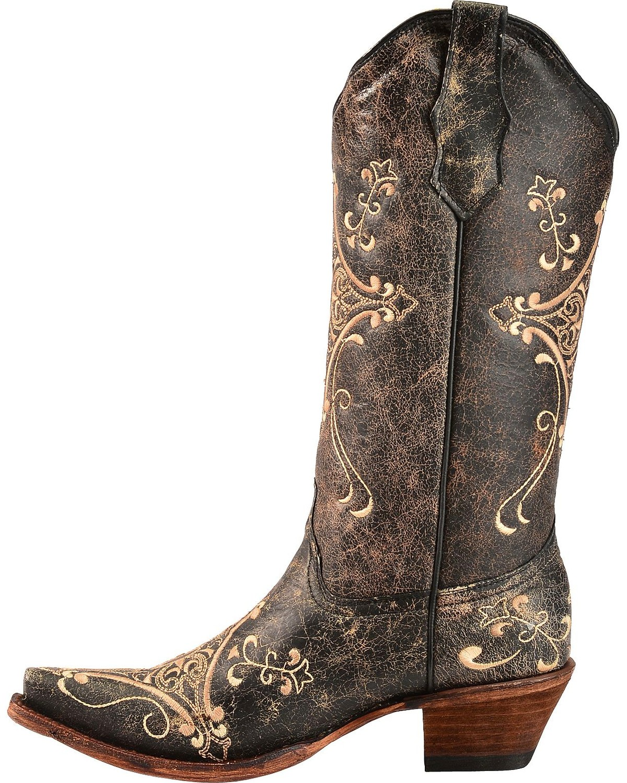 Corral Boots Embroidery Block Heel Boots uW6gS6IA