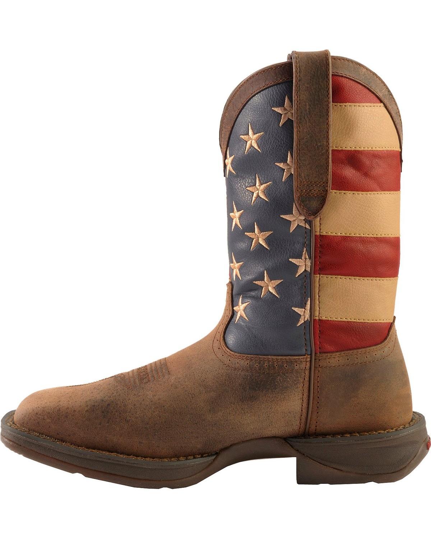 Durango Rebel American Flag Cowboy Boots Steel Toe