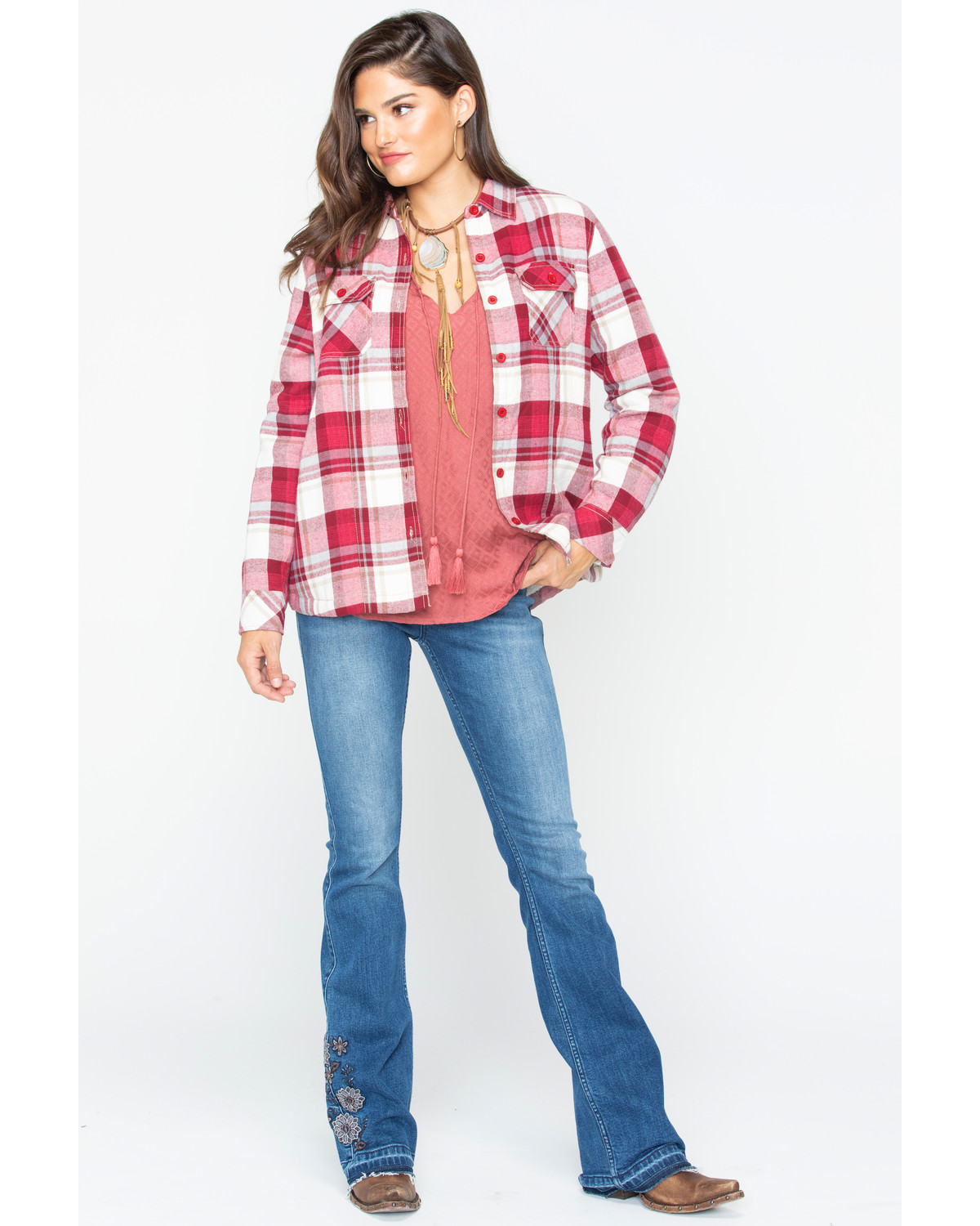 Red Flannel Shirt Womens 7ee675dc98