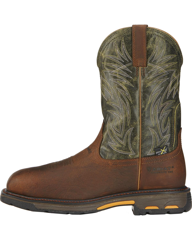 Ariat Men S Workhog Internal Met Guard Work Boots