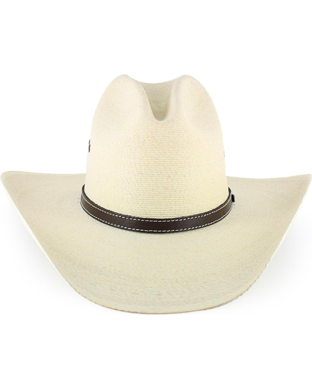 f75492496d9 Atwood Men s Gus 7X Palm Leaf Straw Cowboy Hat