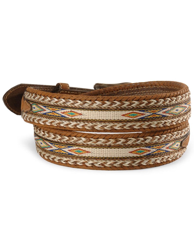 Tony Lama Horsehair Ribbon Leather Belt  f929e20a61bc