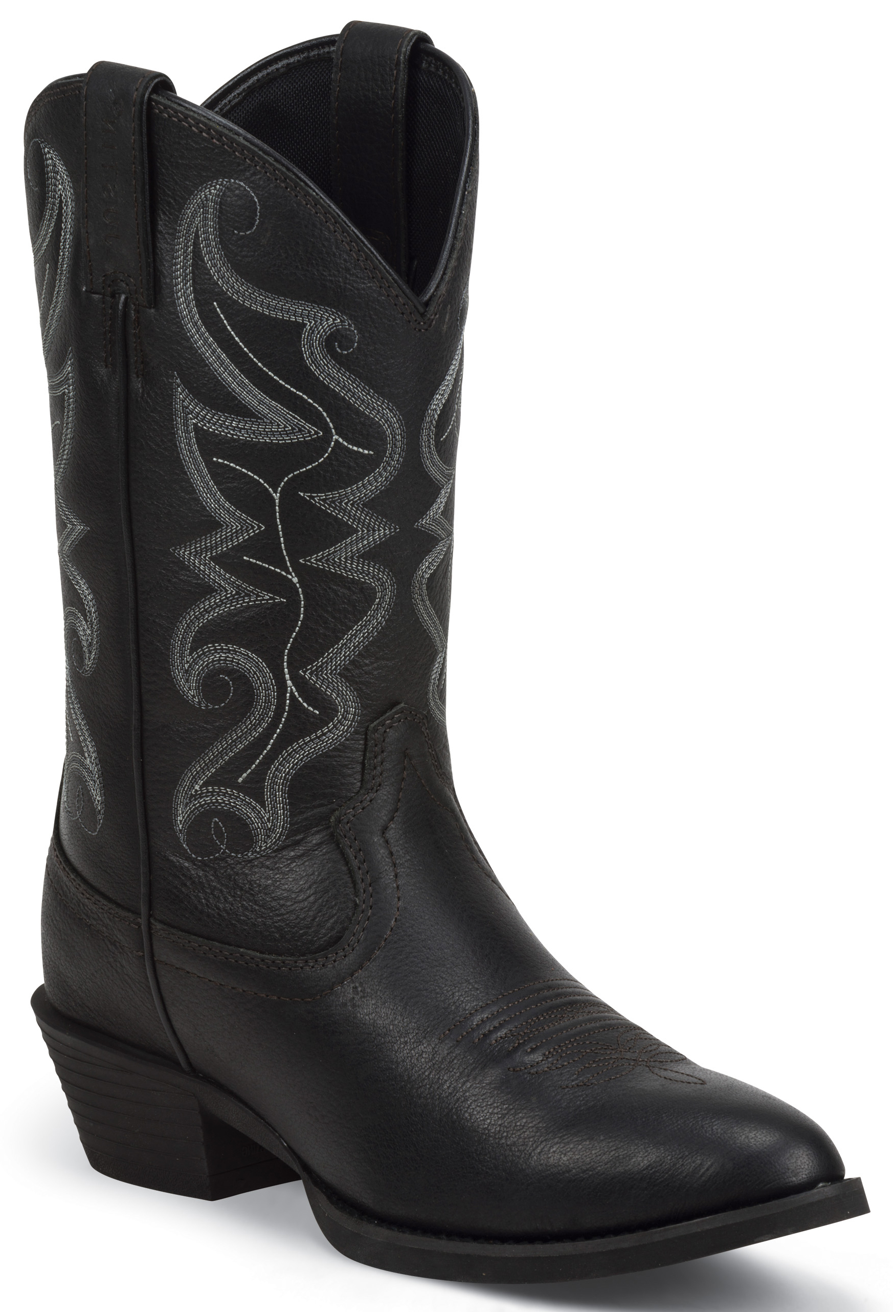 Justin Men S All Star Black Western Boots Round Toe