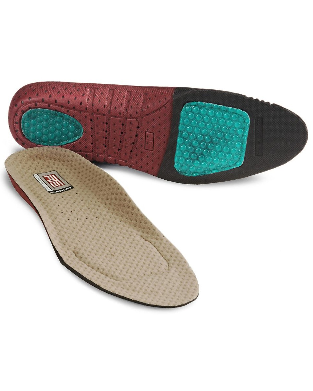 Ariat Women/'s ATS Round Toe Footbed Insole Choose Size