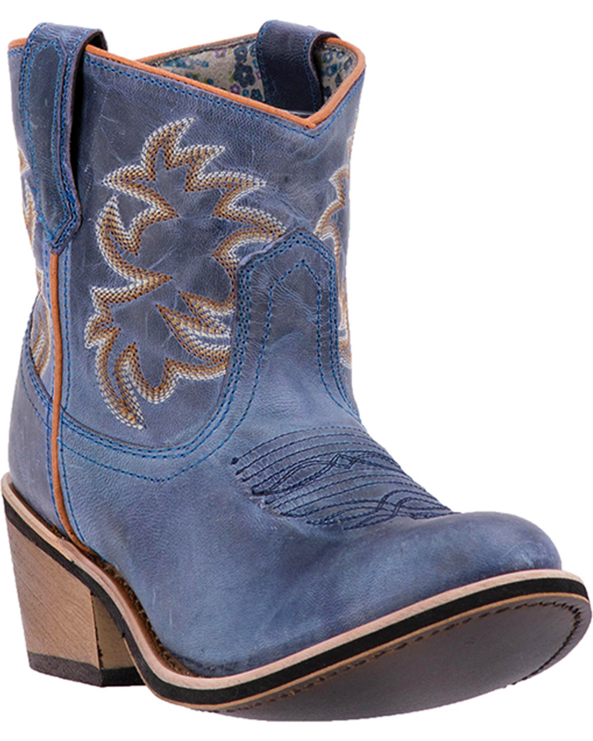 c07185da1f2f Laredo Womens Sapphyre Leather Western Booties - Round Toe