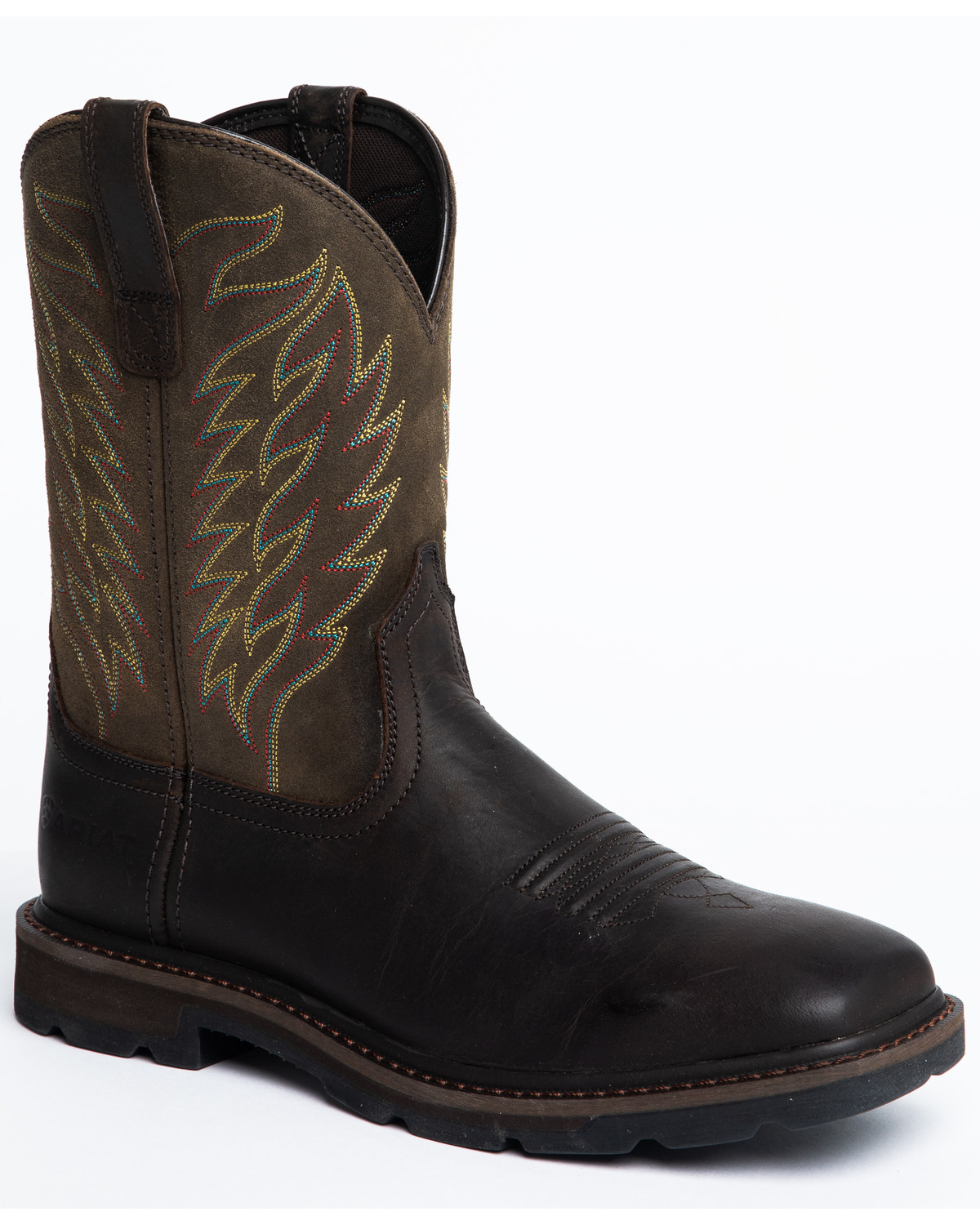 Ariat Men S Groundbreaker Western Work Boots Square Toe