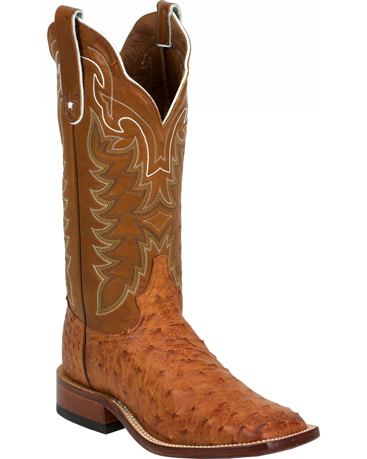 Tony Lama Vintage Full Quill Ostrich Cowboy Boots Wide