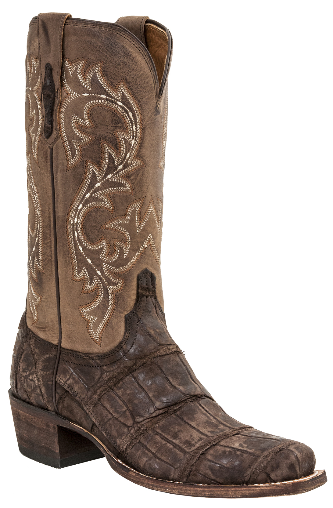 Lucchese Men S Burke Alligator Western Boots Square Toe