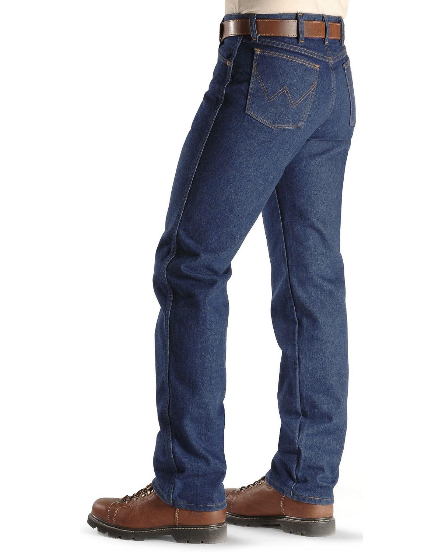 Wrangler FR 28 X 30 Prewash Denim Cotton Flame Resistant Jeans With Zipper Front Closure