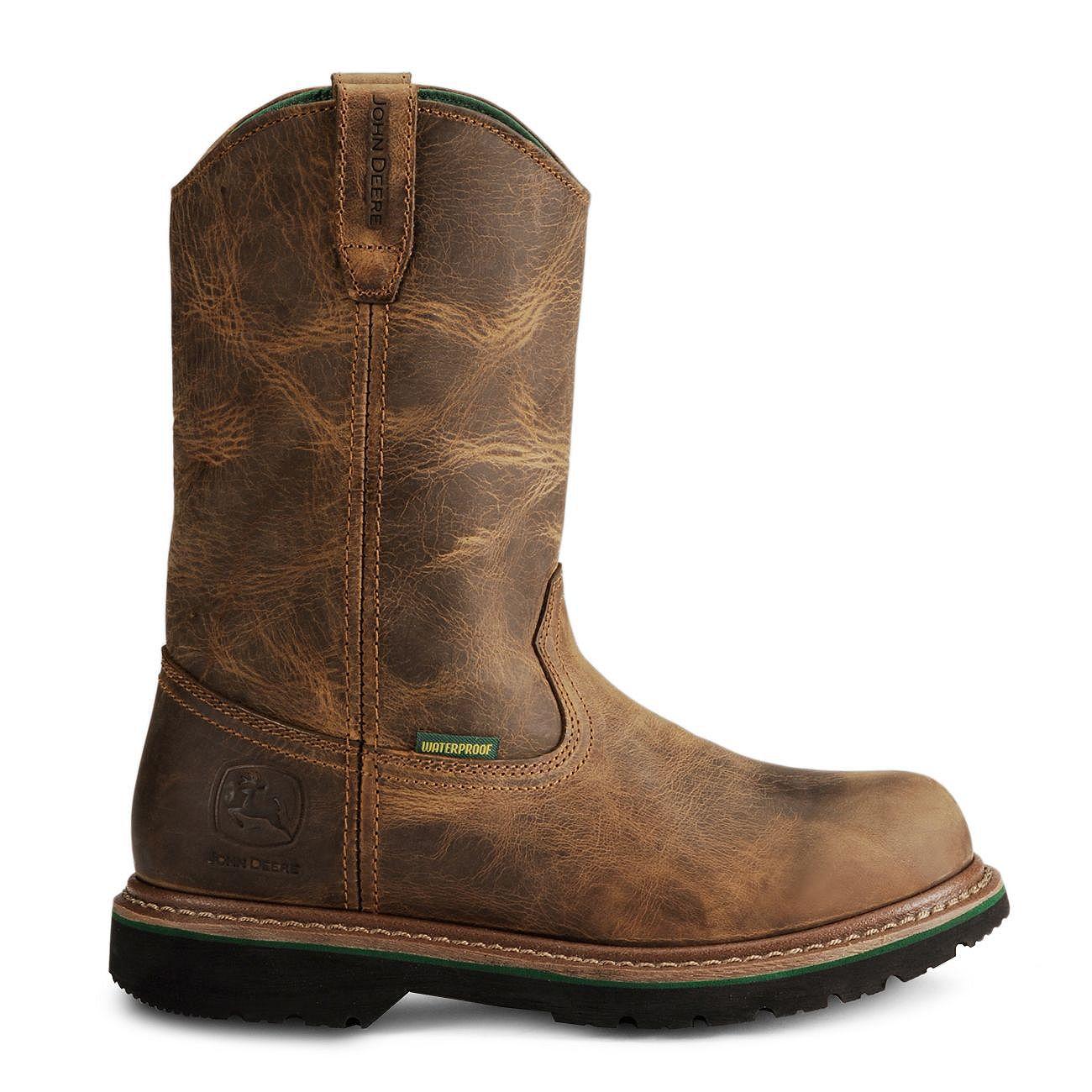 John Deere Men's Waterproof ... Wellington Work Boots aXNp6g
