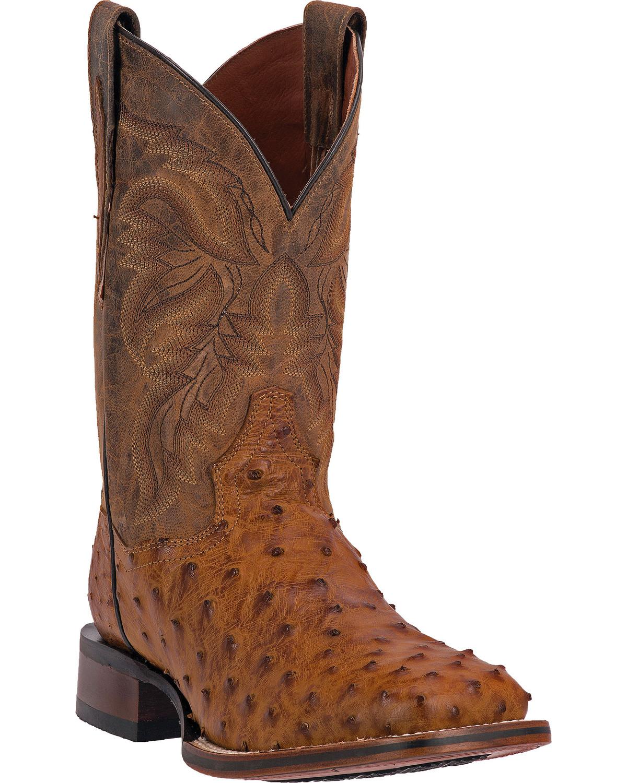 Dan Post Men S Alamosa Full Quill Ostrich Western Boots