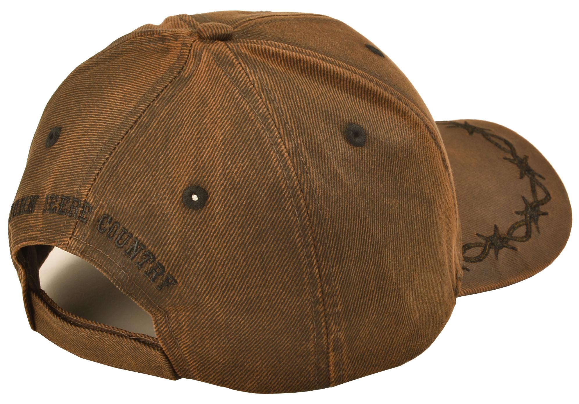 3c0e1f60293 John Deere Oilskin Look Patch Casual Cap