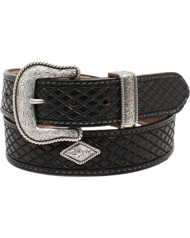 Nocona Men's Fort Worth Black Leather Belt