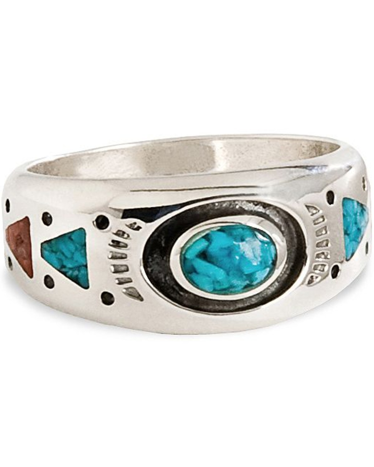 Sterling Silver Unisex Horse Band Ring